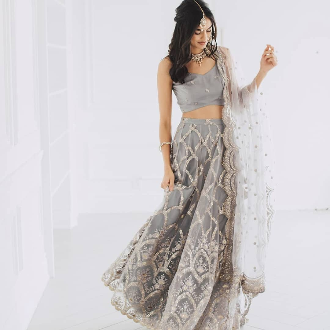 Grey Sangeet Outfit