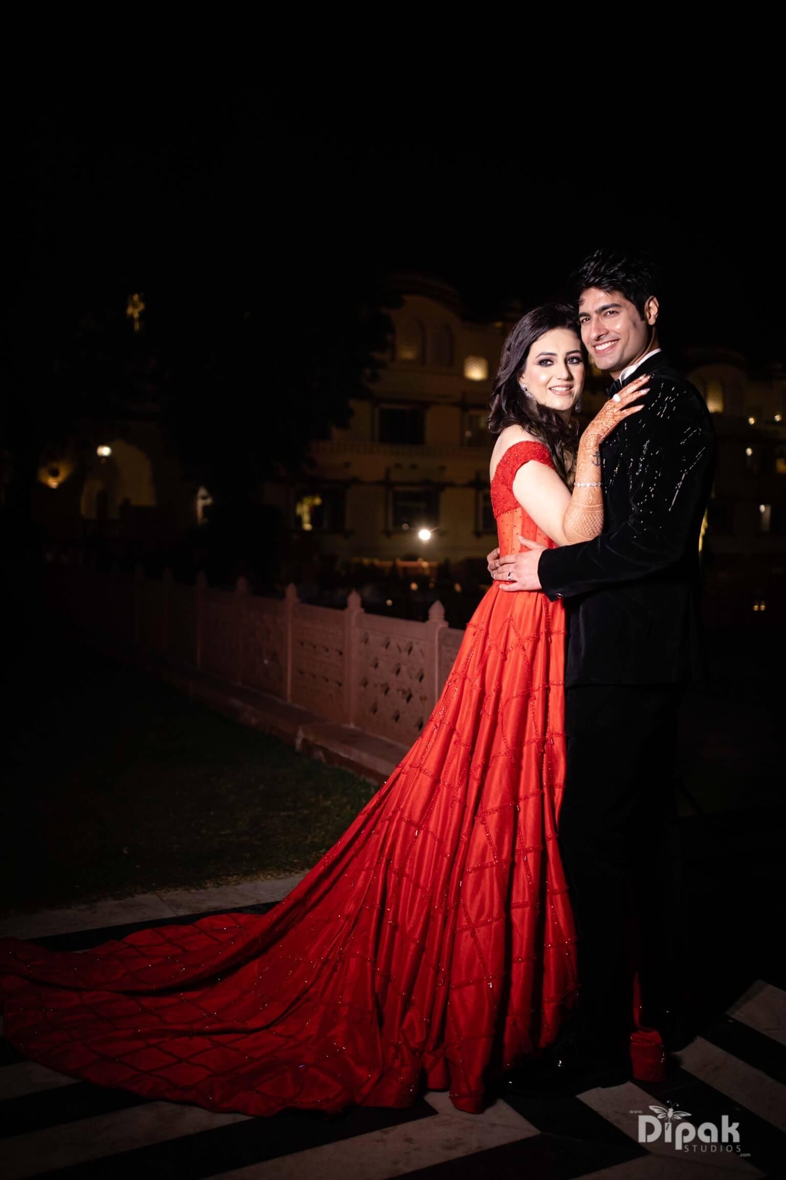 cocktail couple portrait, Wedding At Jai Mahal Palace