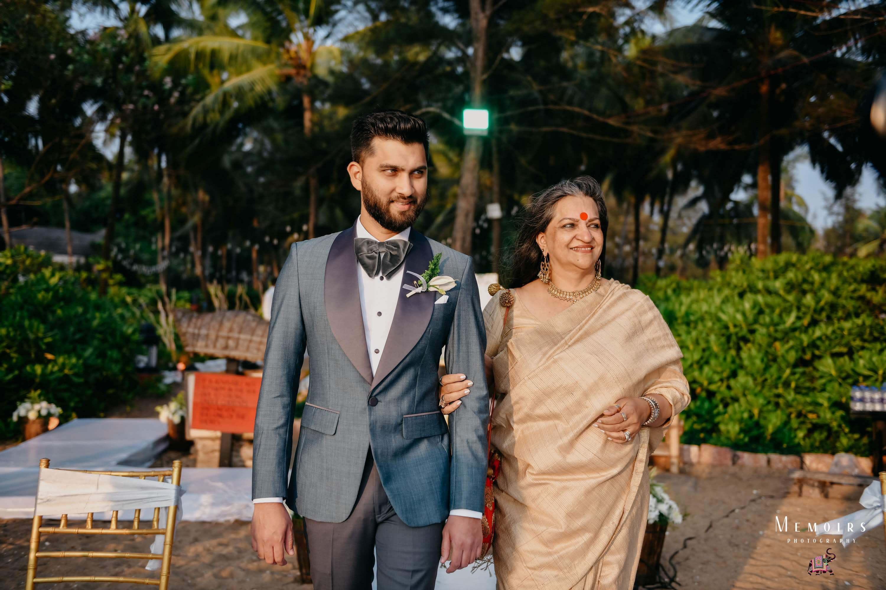 groom entry with mother