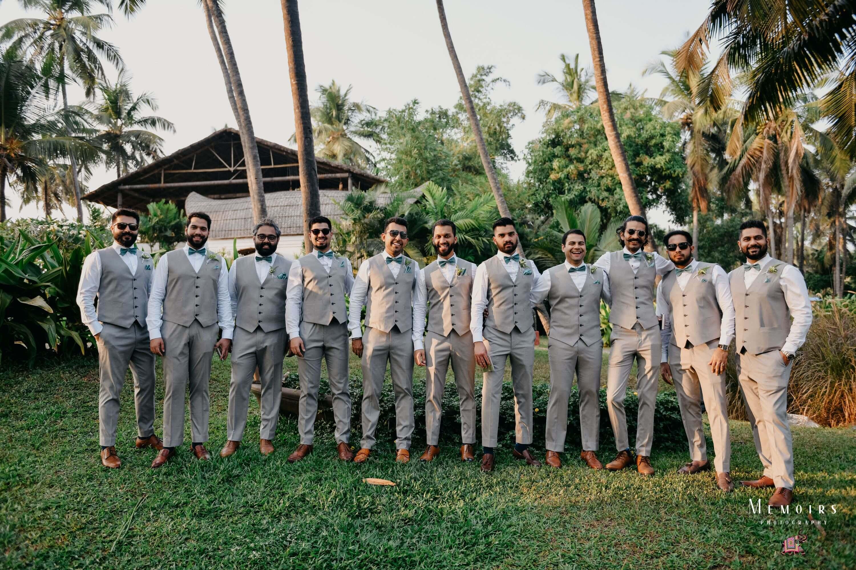 coordinated groomsmen