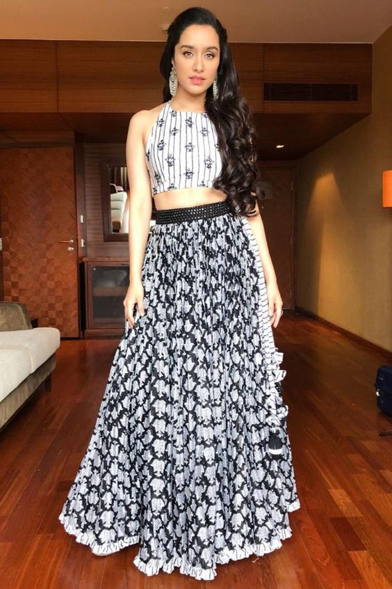 Lehenga Skirt With A crop top