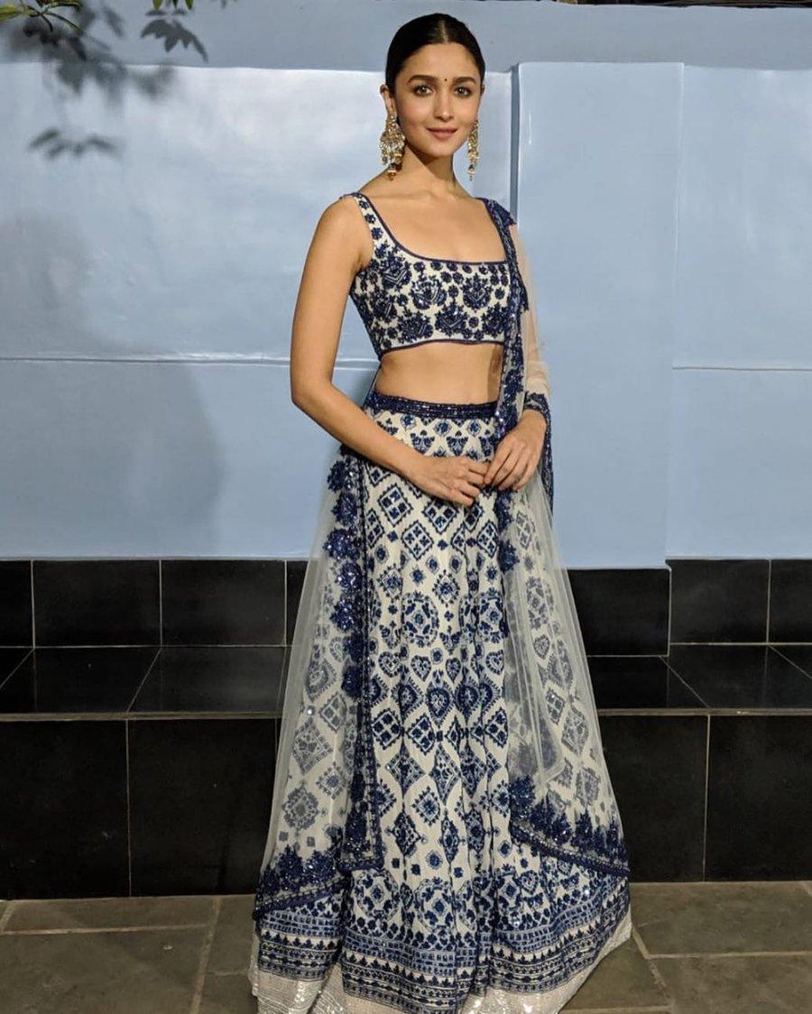 Manish Malhotra Blue Lehenga Set