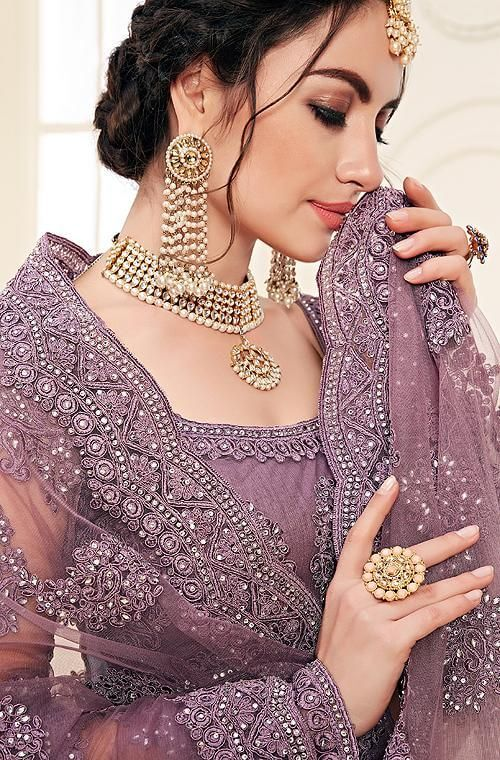 Mauve Purple Wedding Outfit