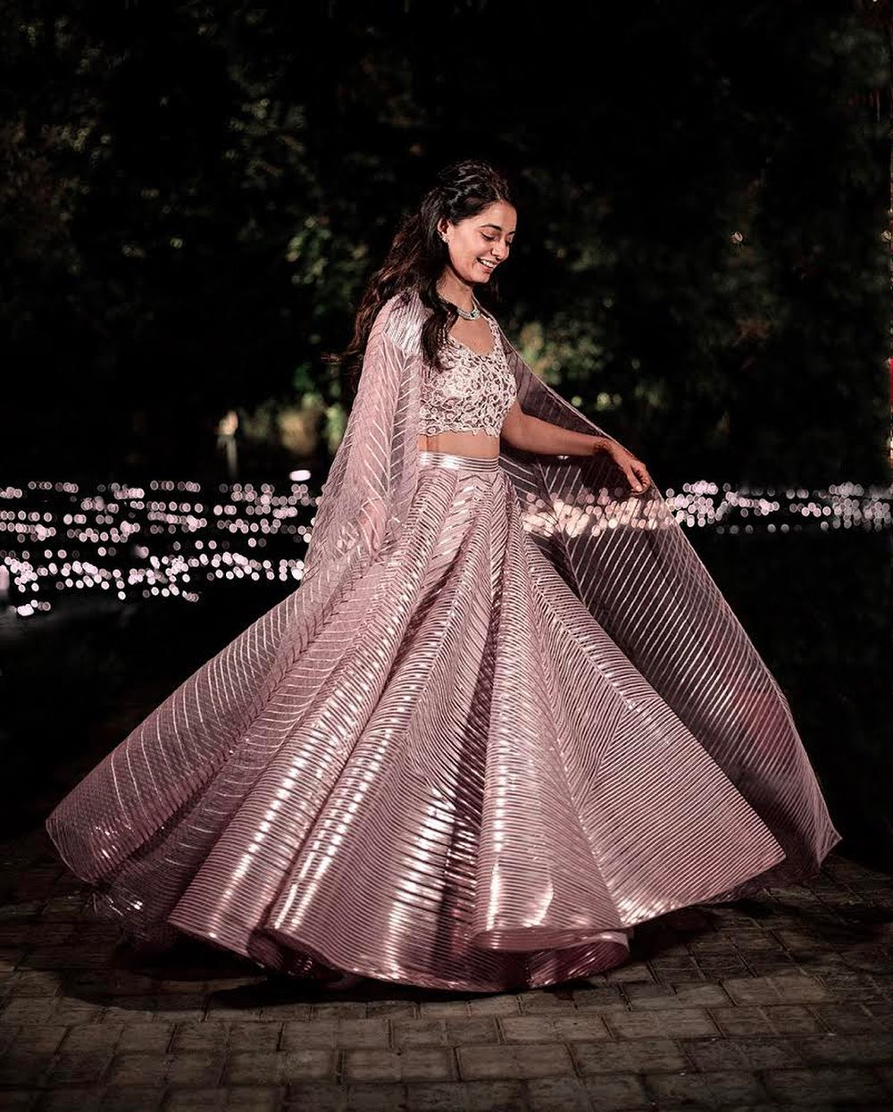 Metallic onion pink lehenga