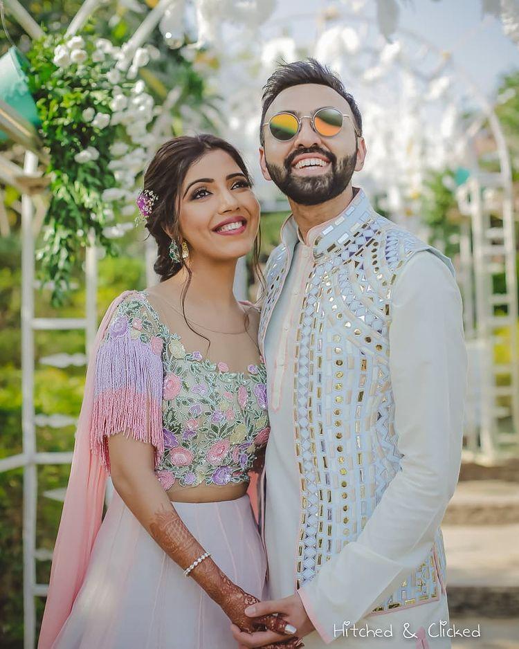 Mirror detailed groom kurta