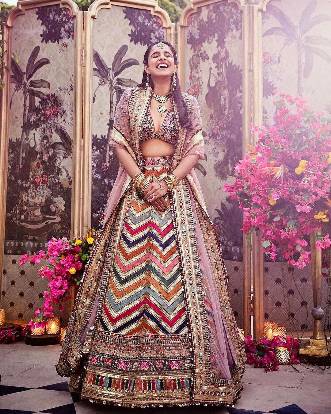 Multicolored lehenga