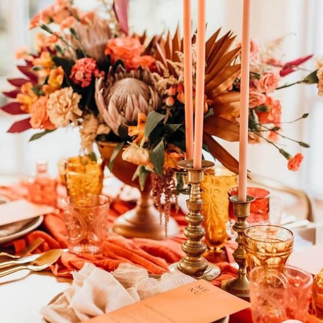 Papaya Orange Wedding Aesthetic