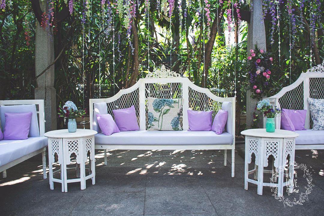 Pastel Lavender Seating decor