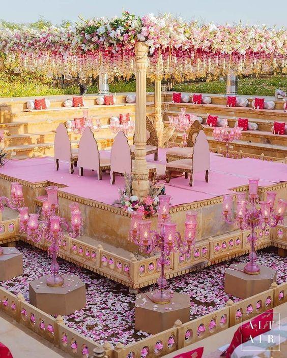 Pink Mandap decor