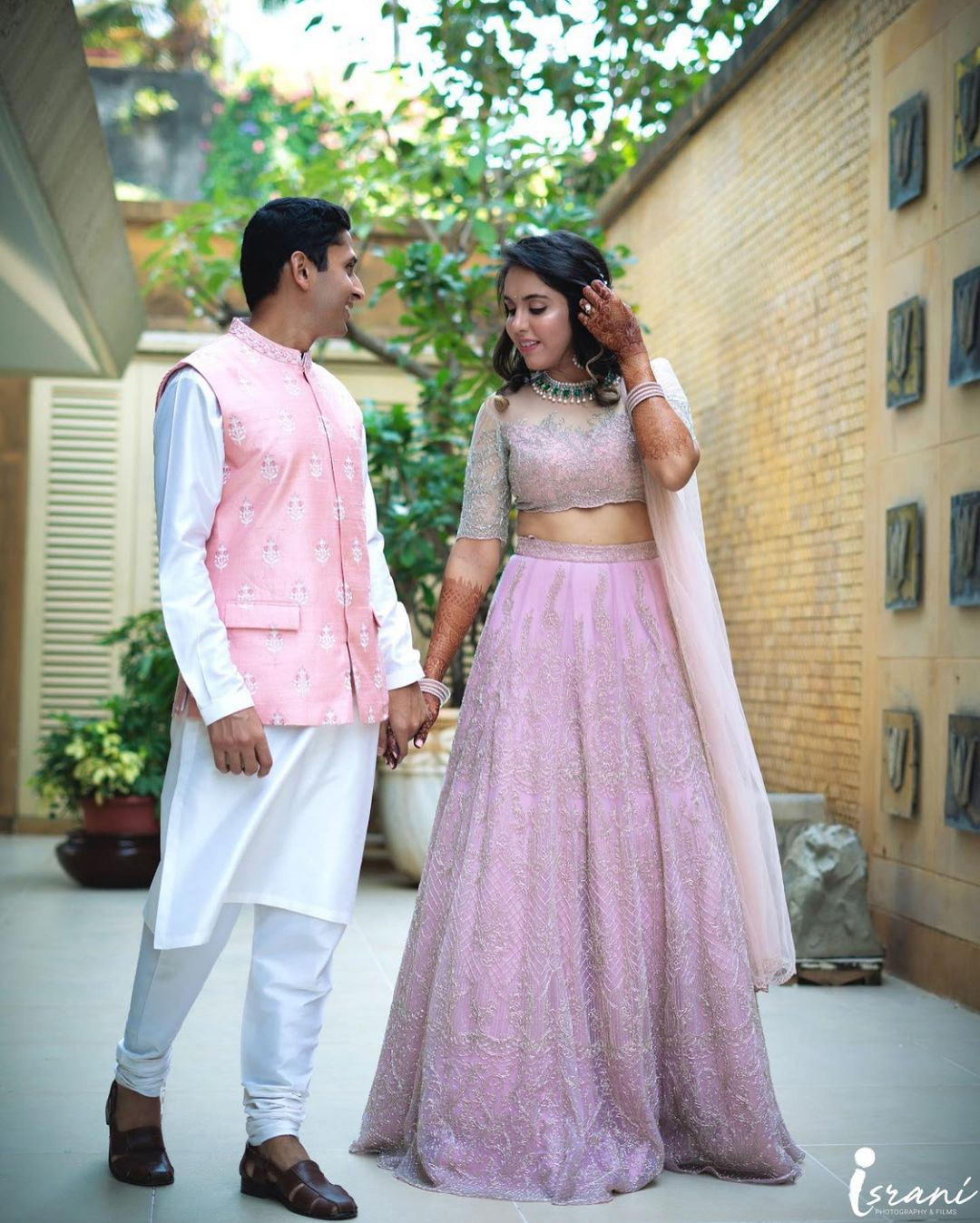 Pink pastel outfits for groom