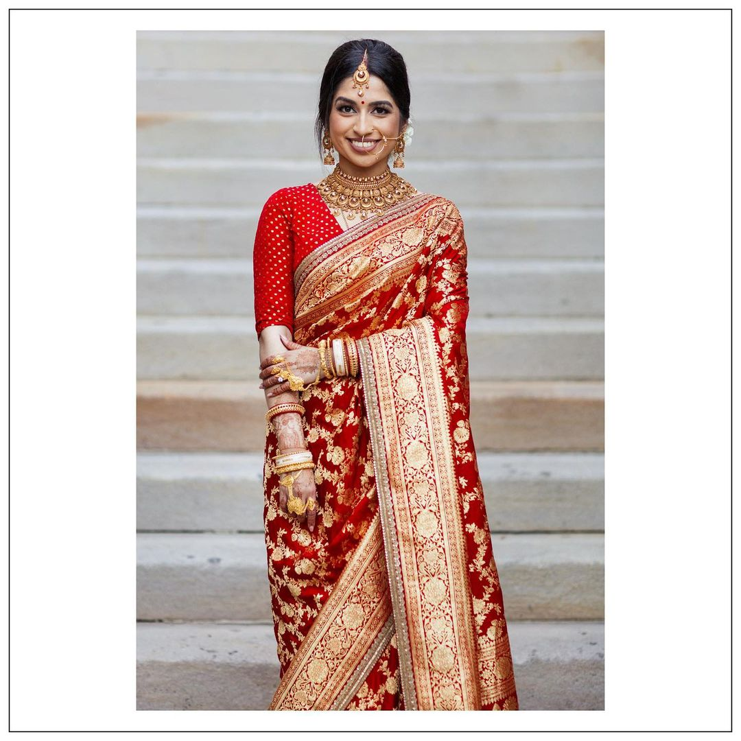 Red banarasi saree sabysachi