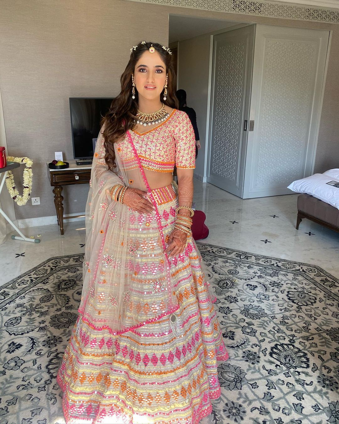 Sangeet outfit lehenga with prints