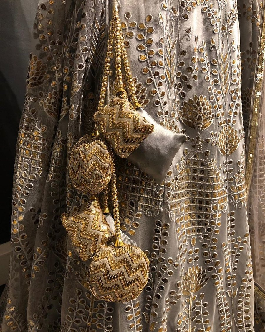 Sequin embroidered latkan design