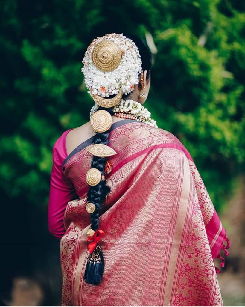 South Indian Jadai Hairstyle