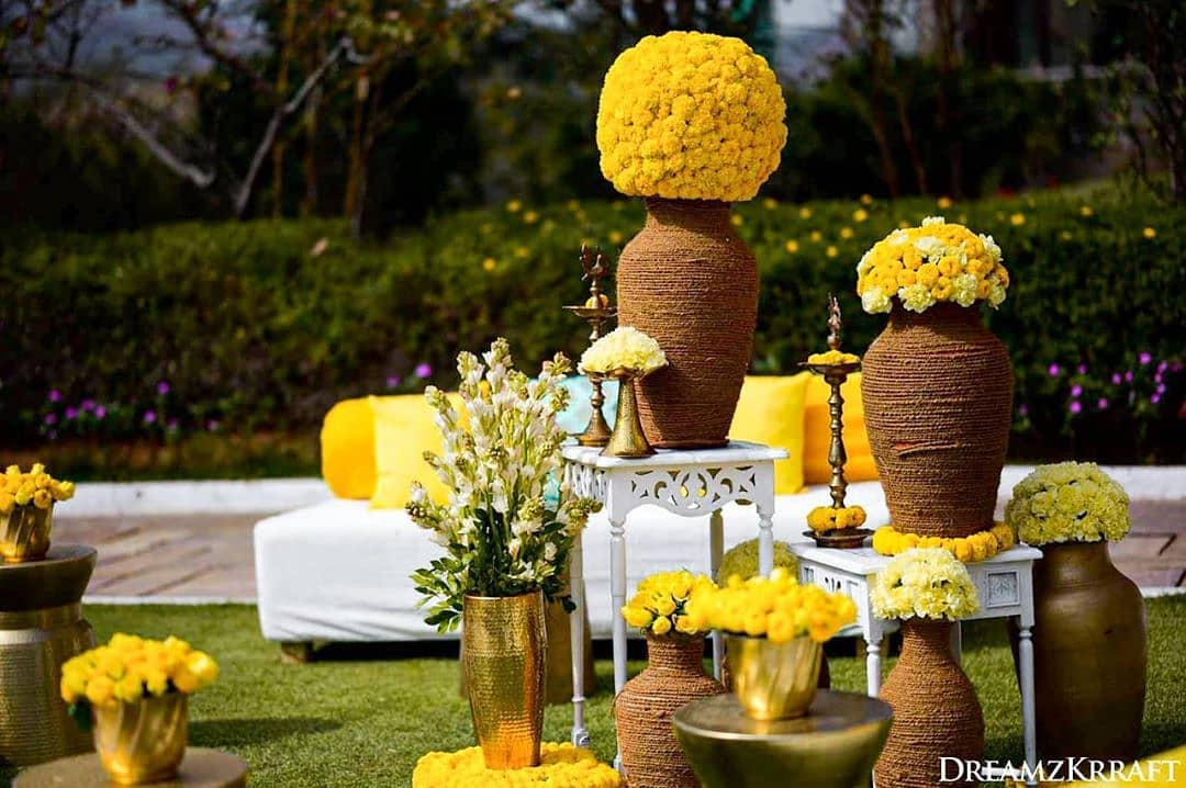 Yellow Floral Decor for Wedding