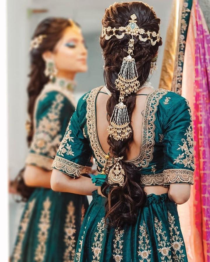 bejeweled bridal hairstyle