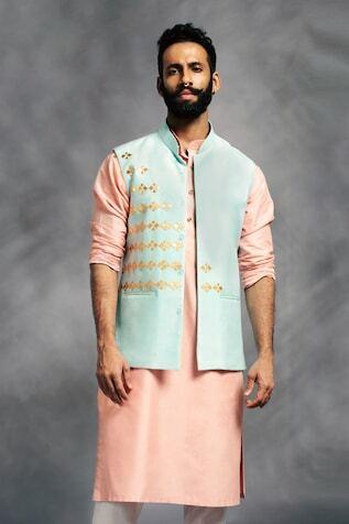 silk groom nehru jacket