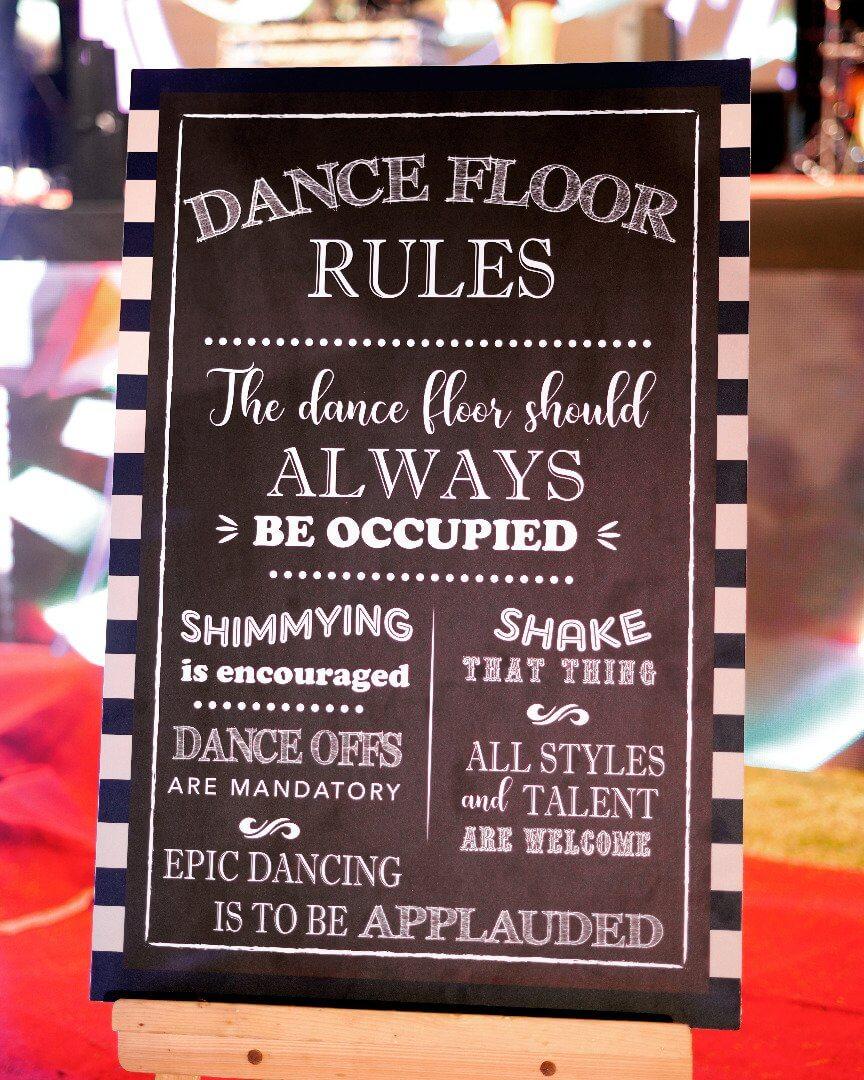 dance floor decor