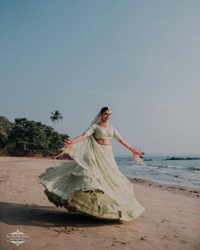 unique bridal lehenga colors