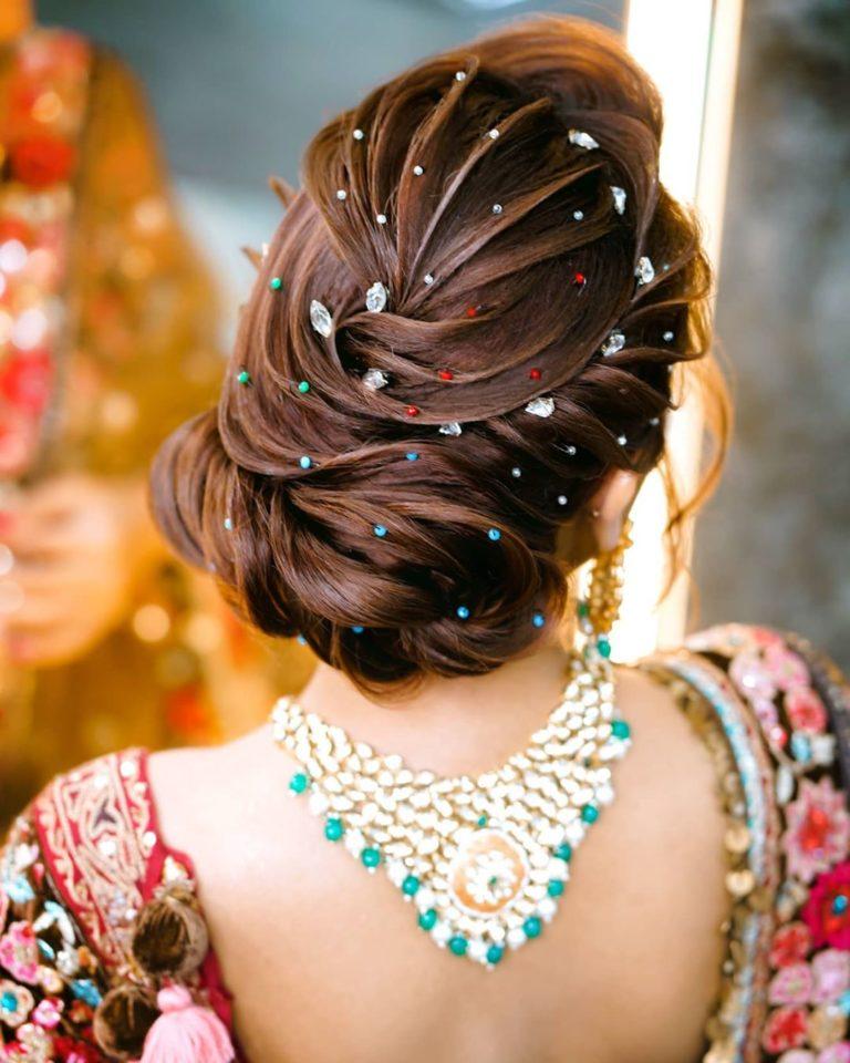 hairbun ideas for brides