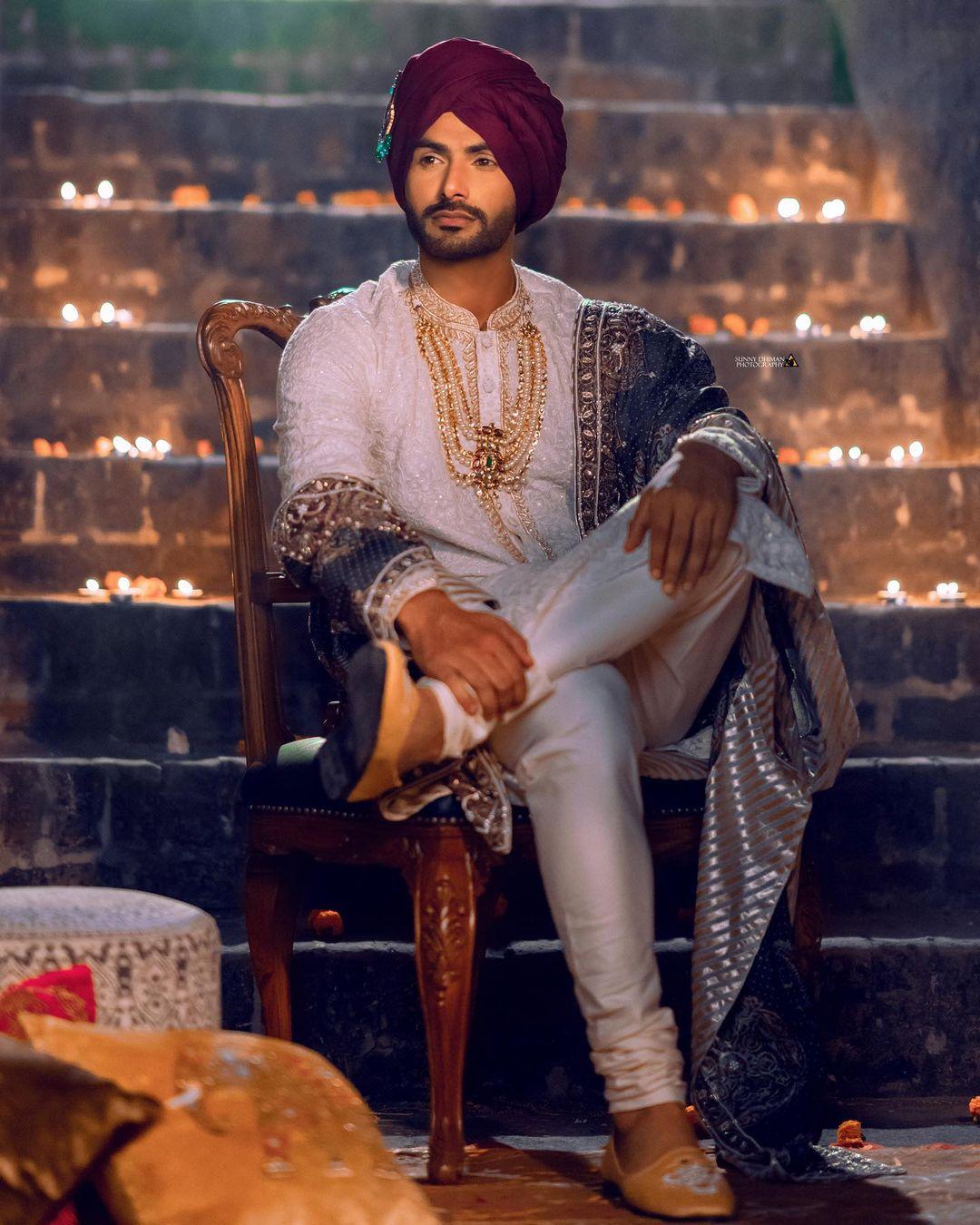 punjabi groom look