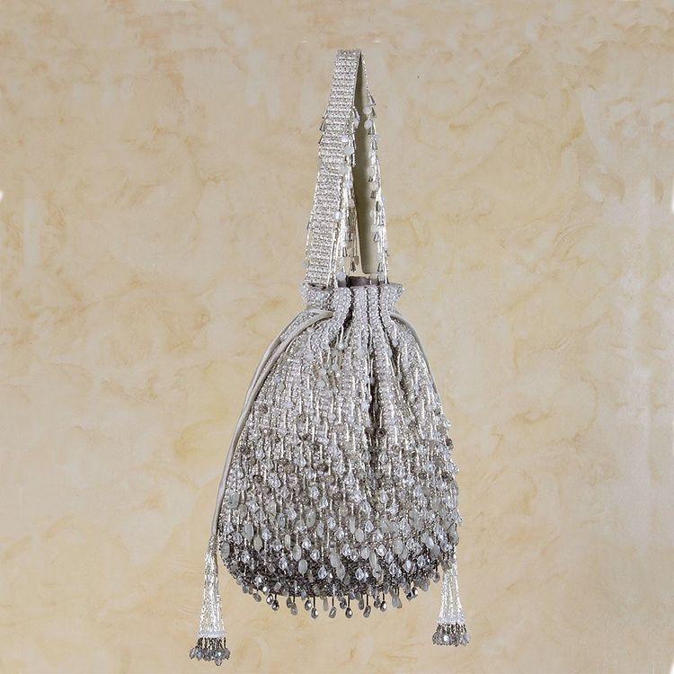silver potli bag
