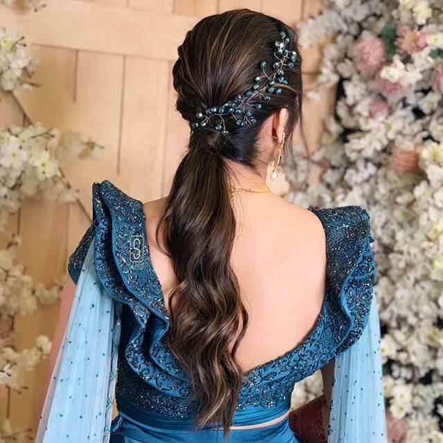 low ponytail bridal hairstyle