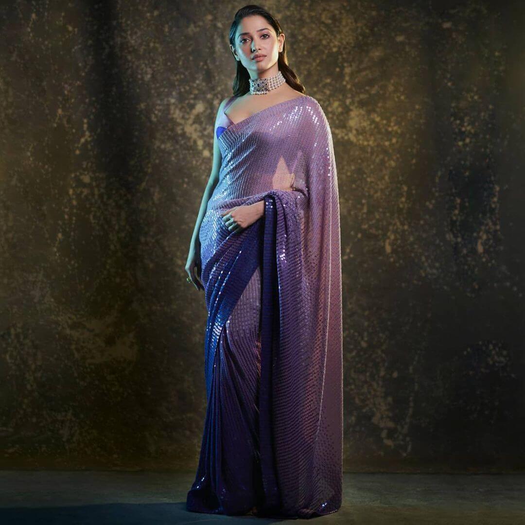 designer ombre saree