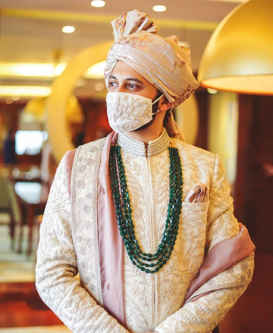 off-white sherwani for grooms