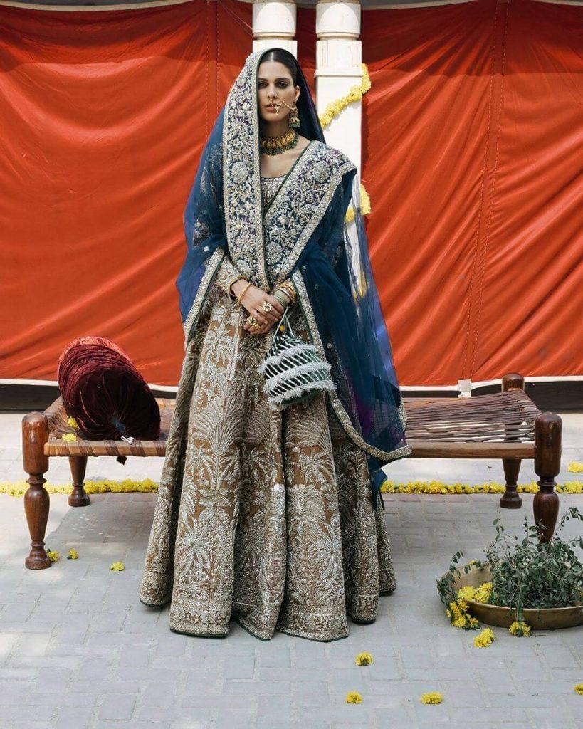 pantone bridal lehenga