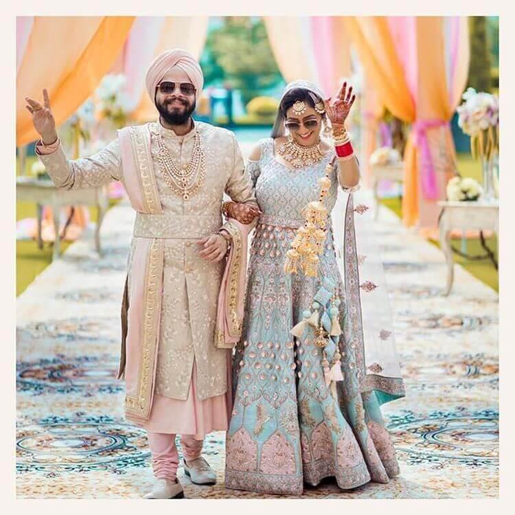 pastel bridal lehenga