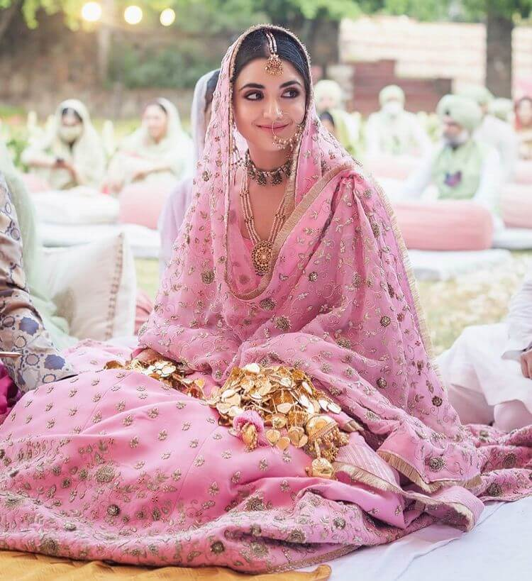 pink bridal outfits