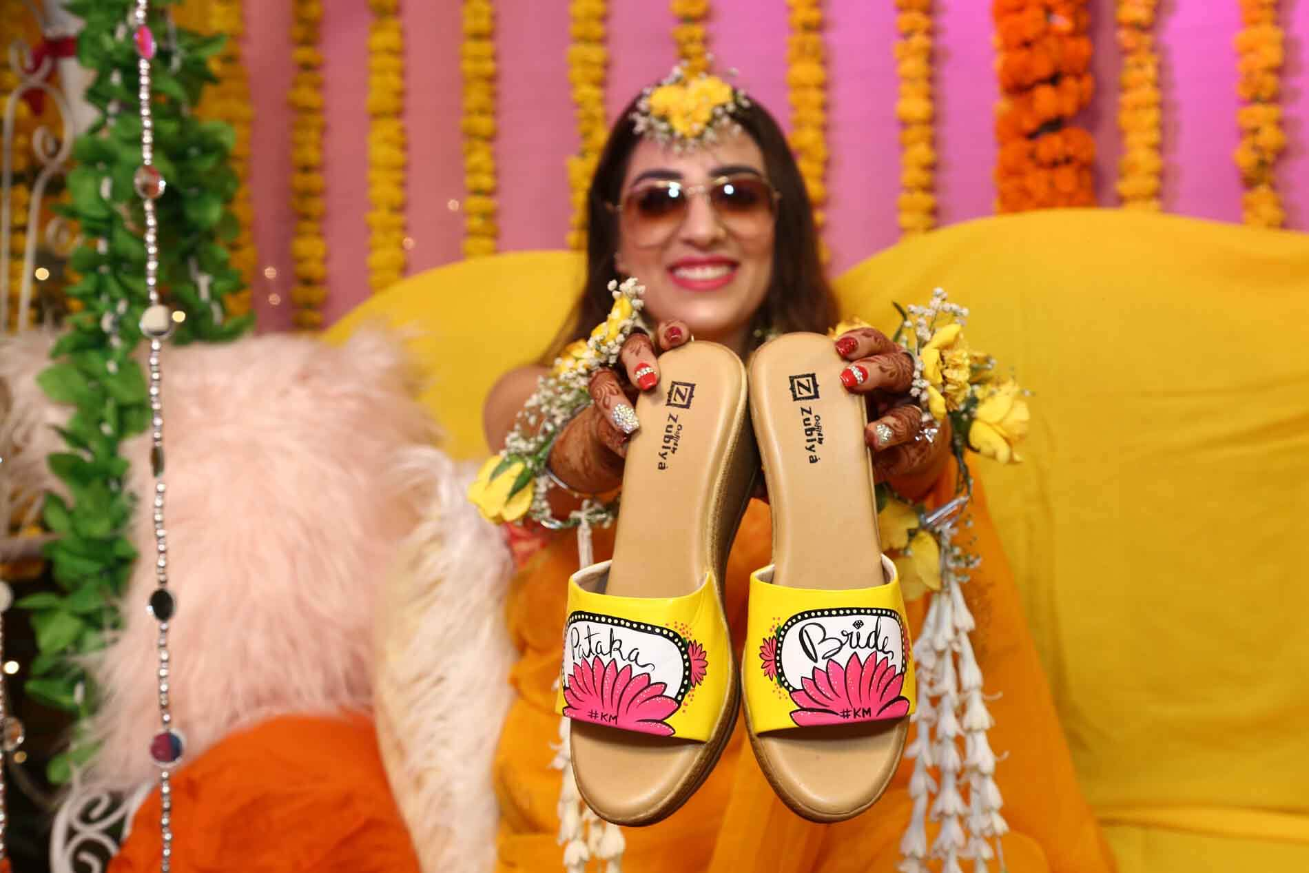 quirky bridal footwear
