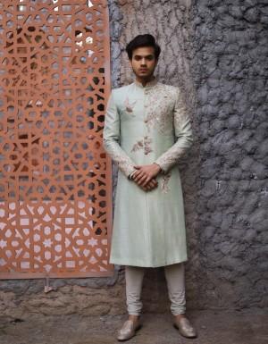 pastel sherwani