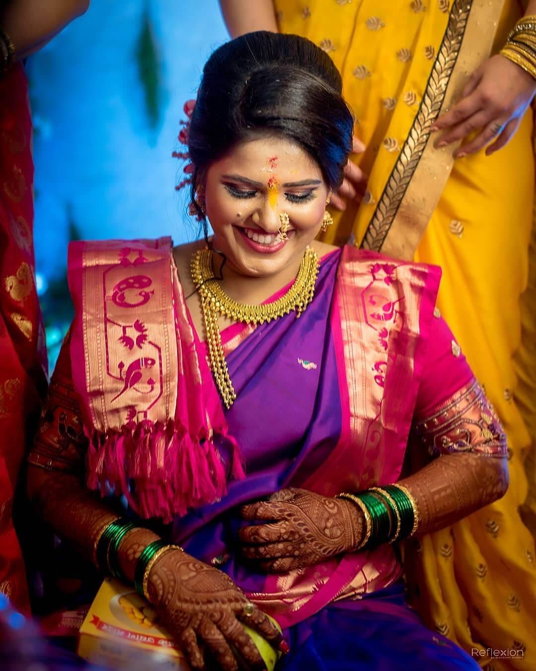smiling bridal portrait