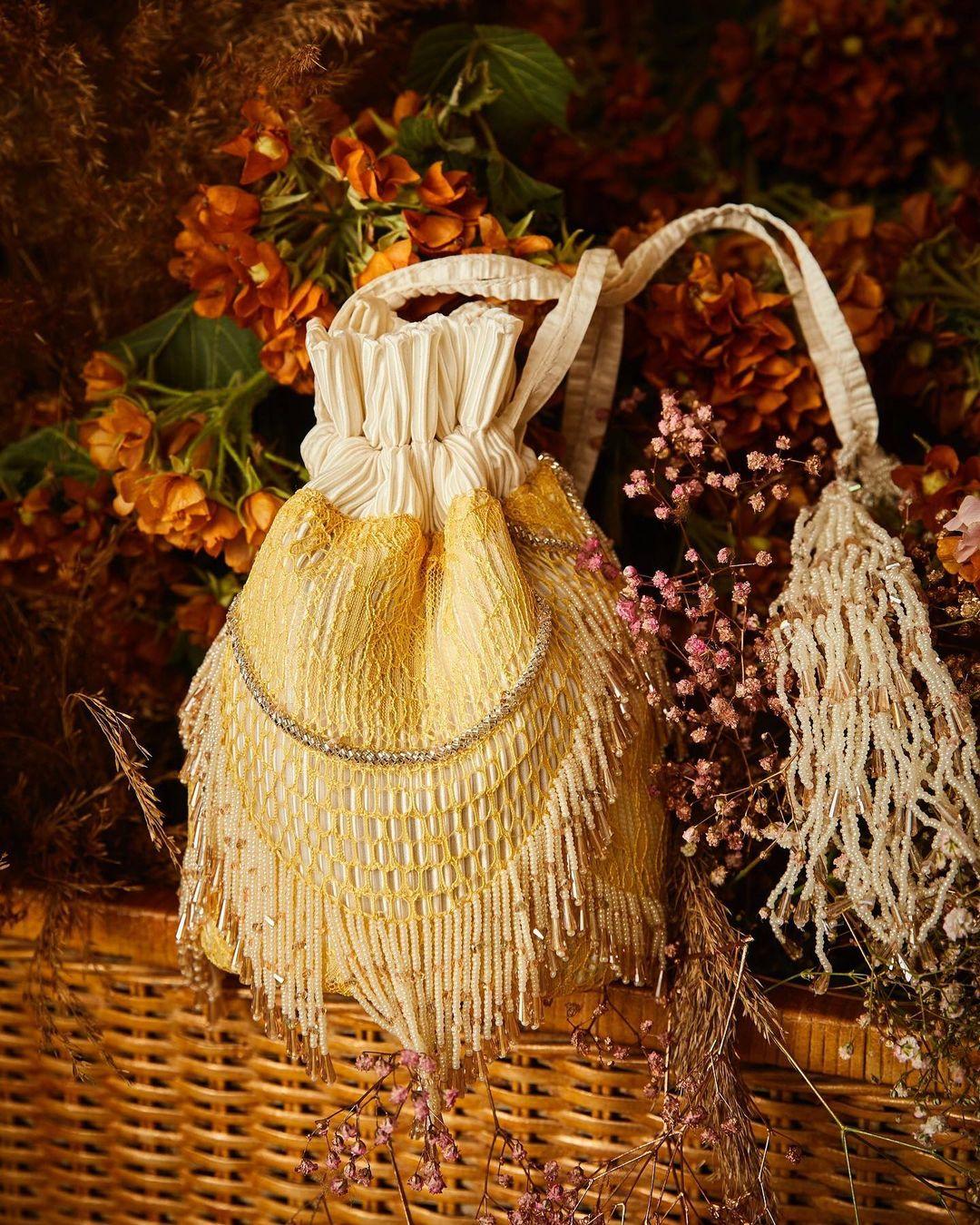 yellow potli bag
