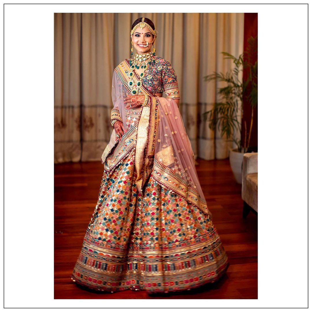 traditional multicolored lehenga
