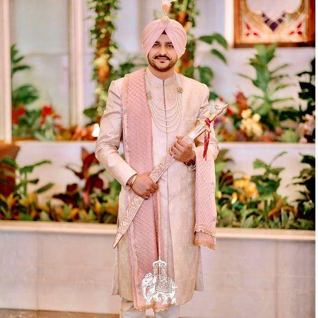 sikh groom portrait