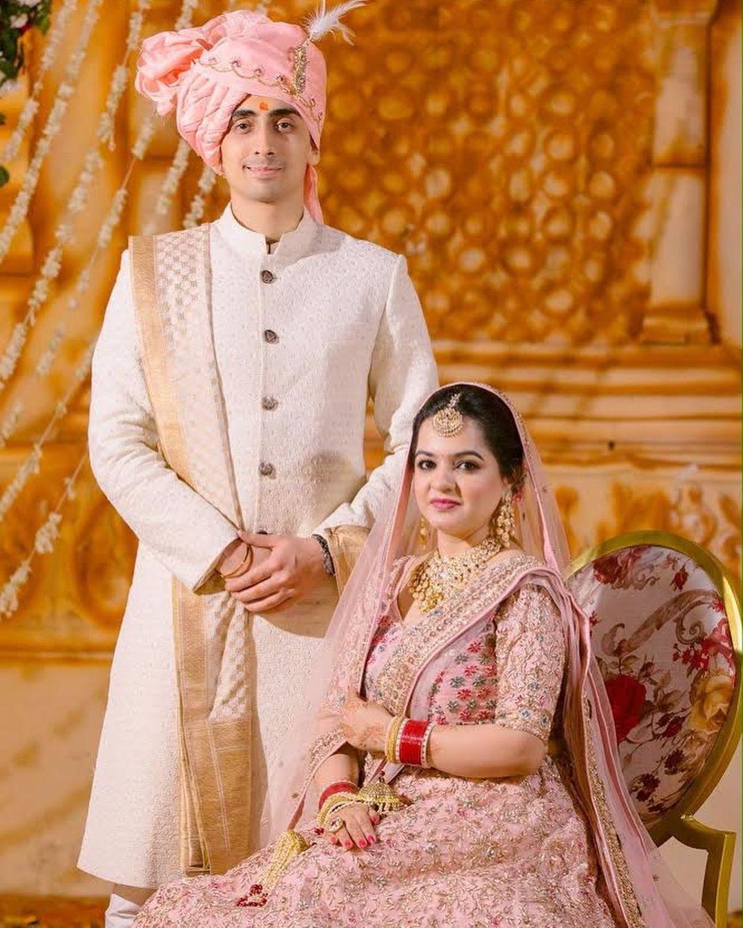 white ivory sherwani for groom