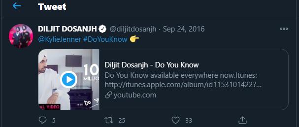 Diljit-Kylie Tweets