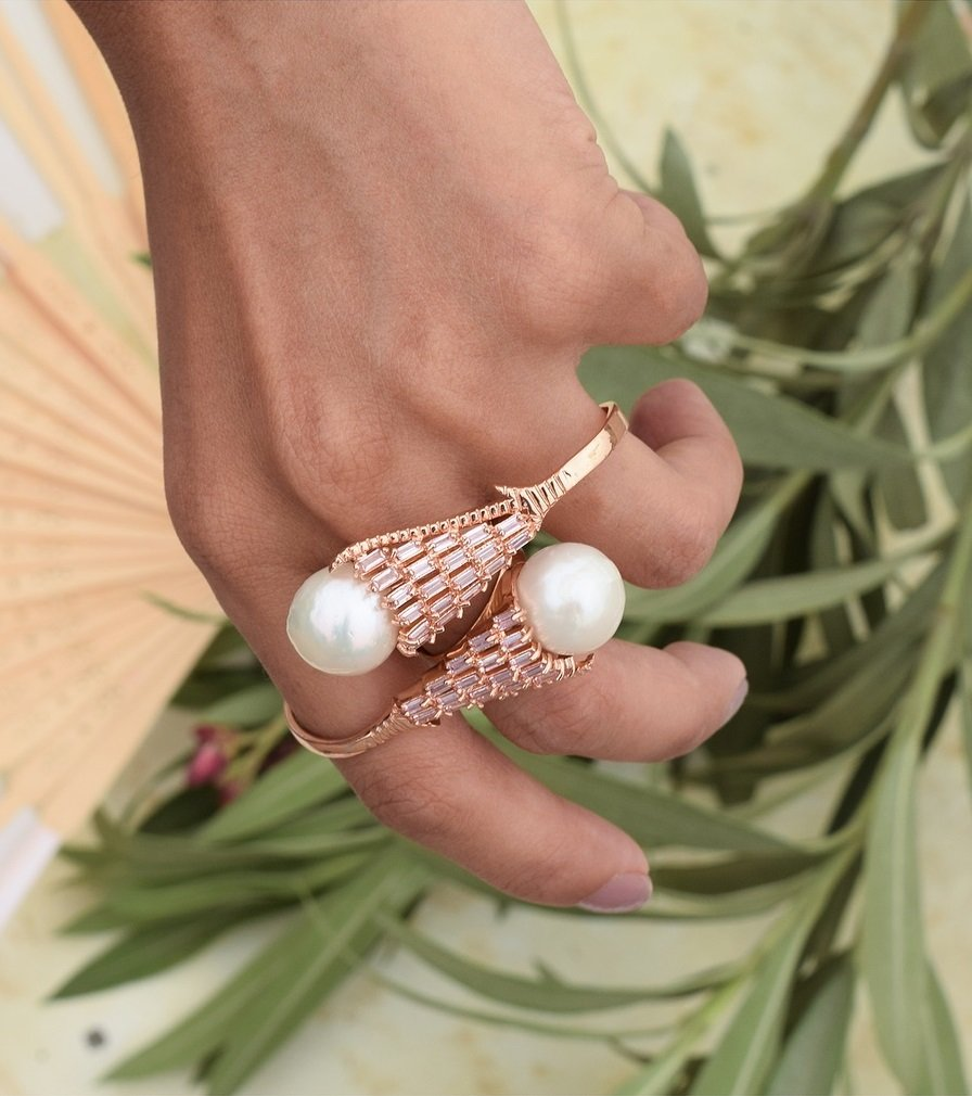 Gold and Pearl Unique RIng
