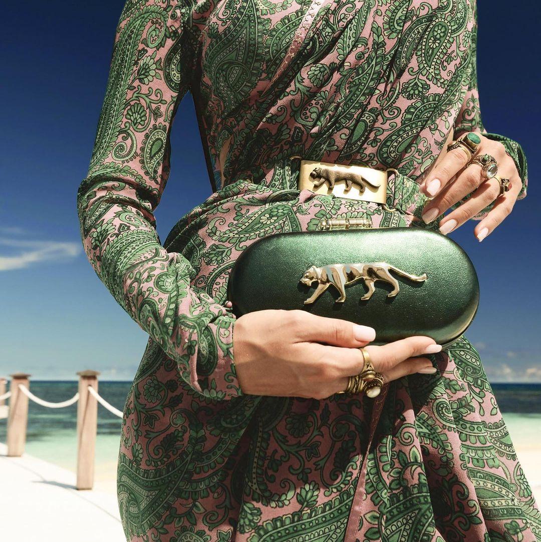 Green bridal clutch Sabyasachi
