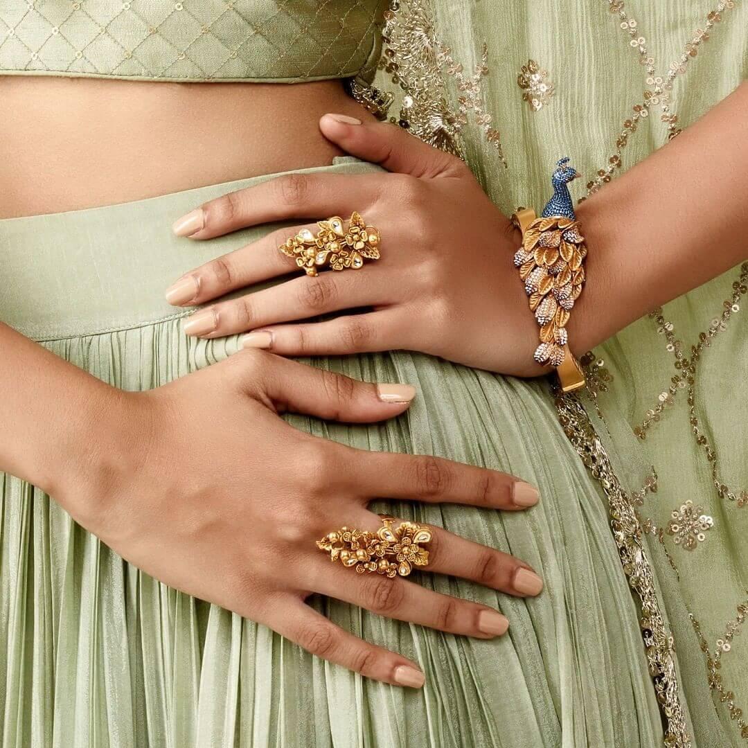 Peacock hand jewellery