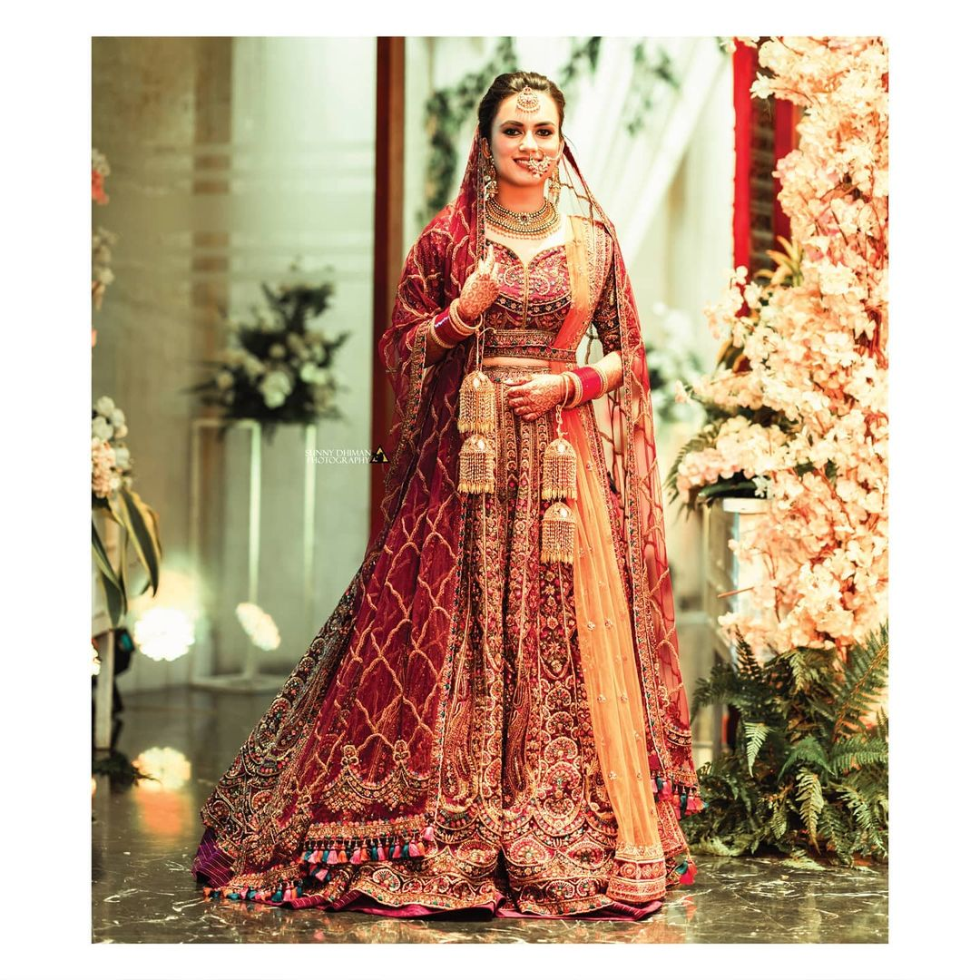 Traditional lehenga design