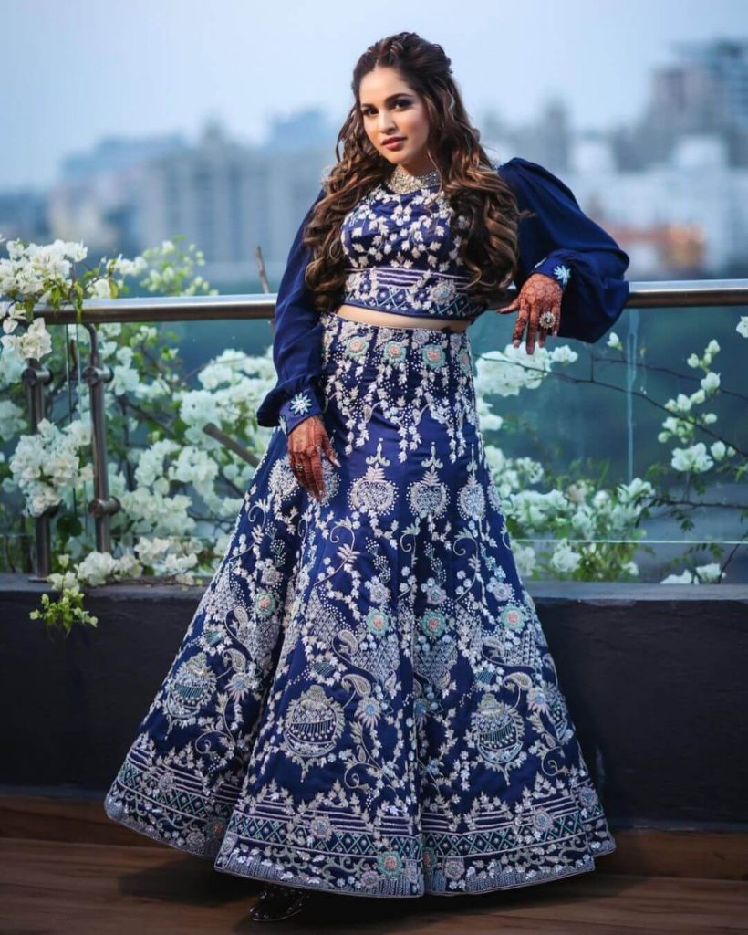 sangeet bridal outfits