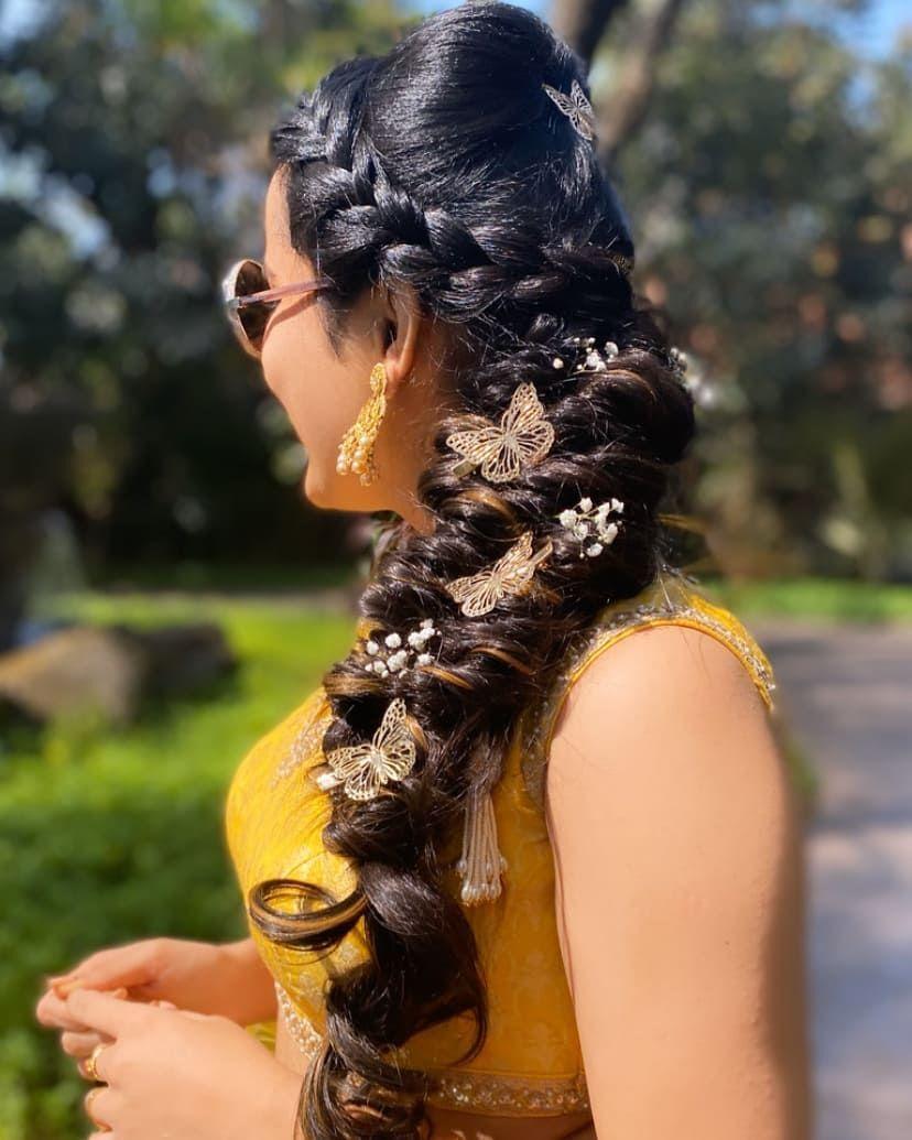 braided butterfly hair