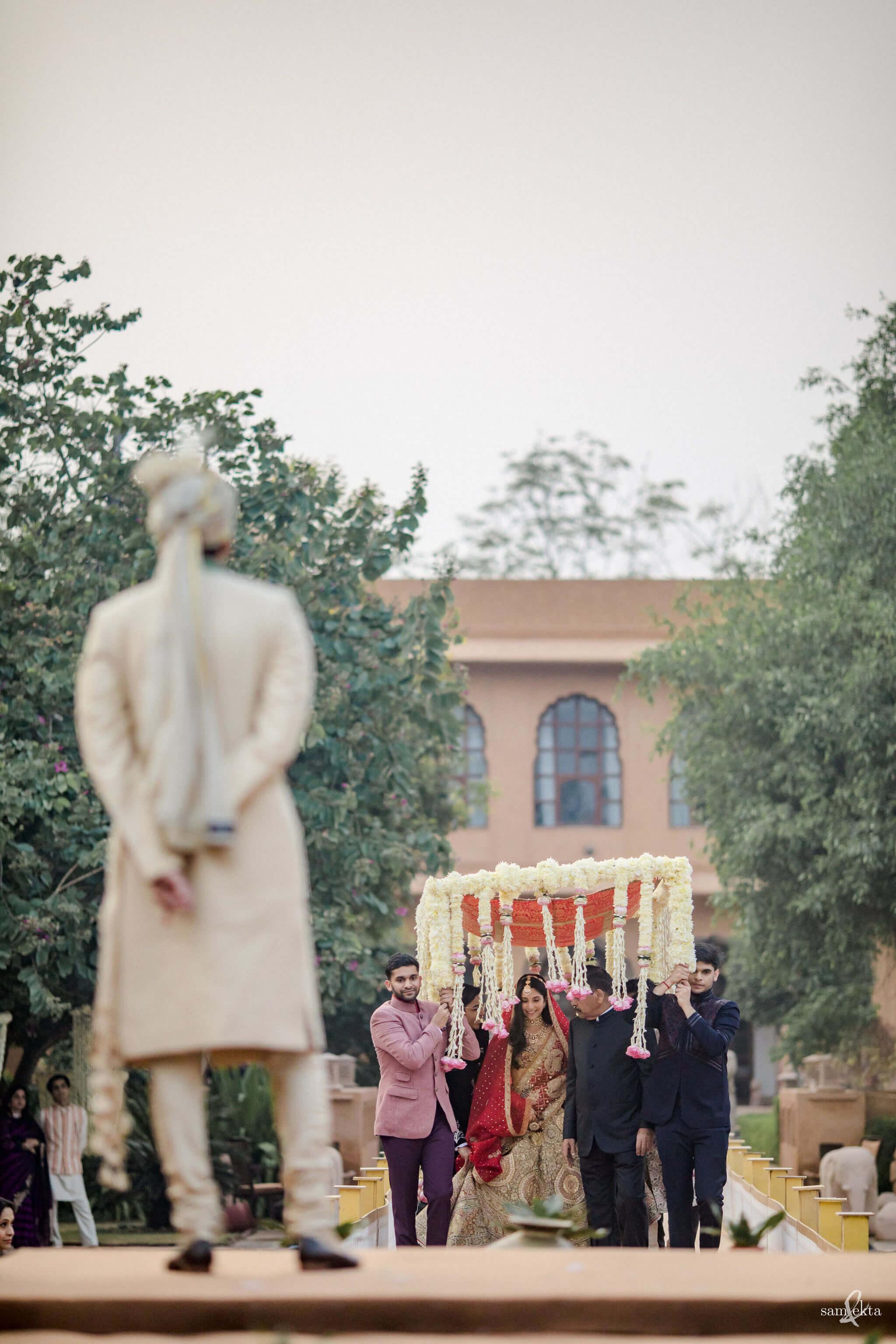 bridal entry shot