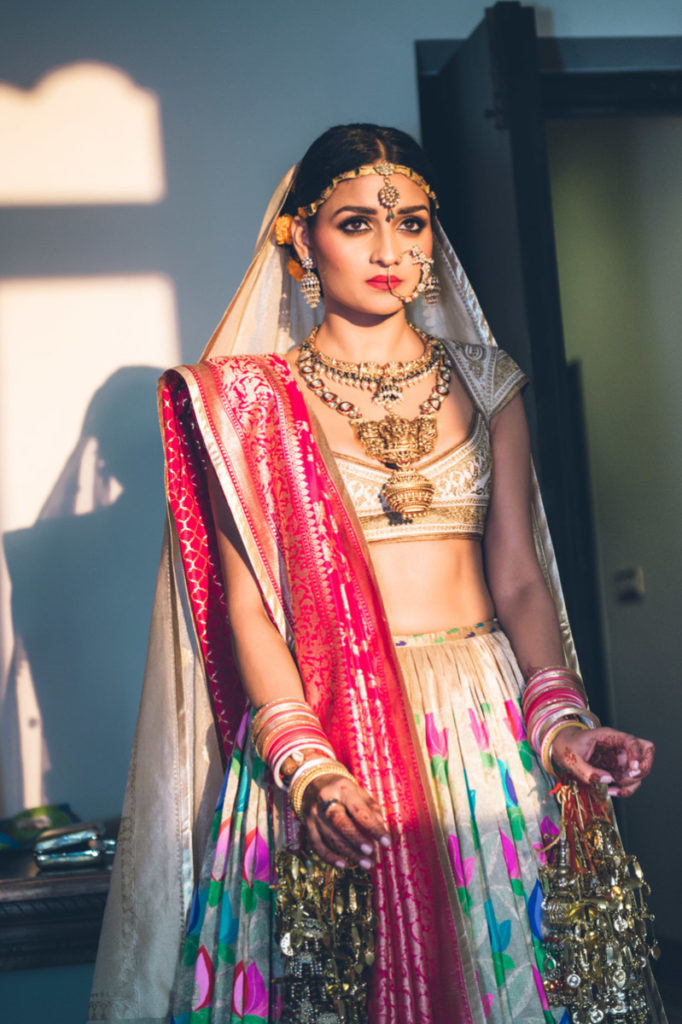 bridal lehenga with double duapatta
