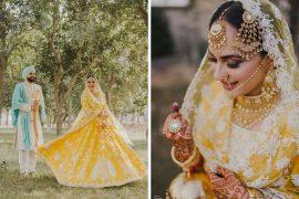bride in yellow lehenga