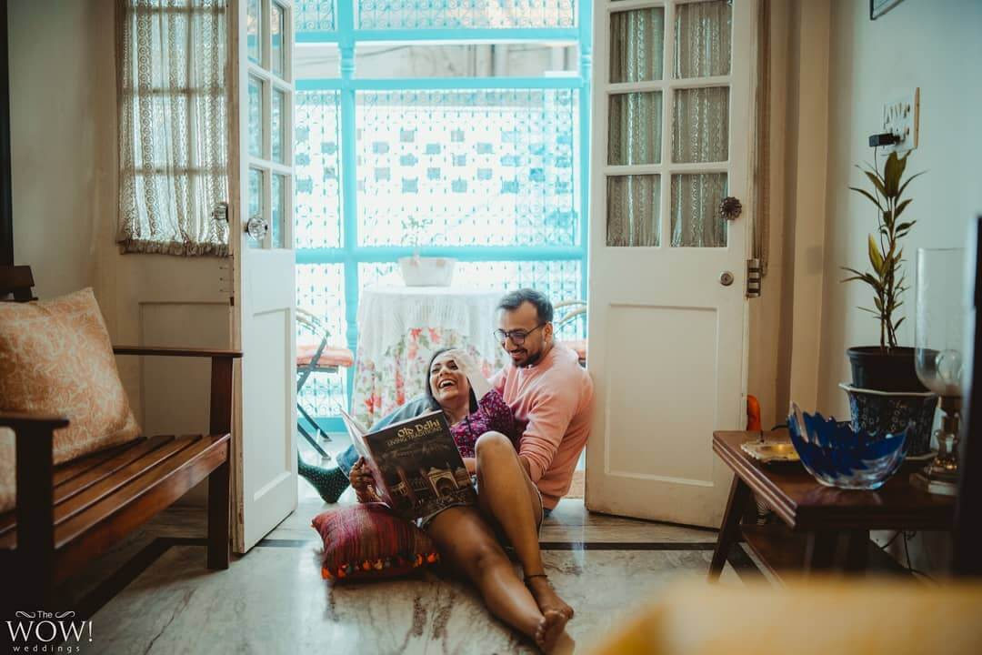 couple shoot at home